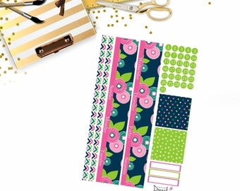 Floral Bloom Happy Planner Monthly, Happy Planner Classic Monthly