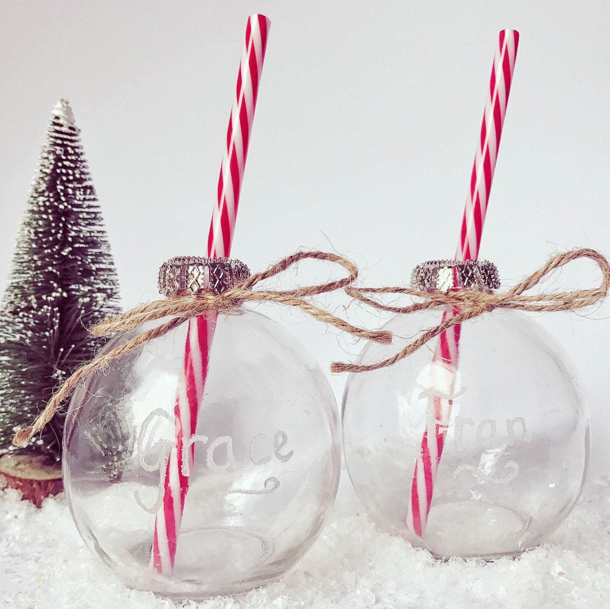 Christmas glass drinking bauble table christmas decor
