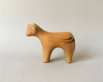 Antonio Vitali wooden Animal Toy Calf / Cow - Vintage Swiss Design - Very rare