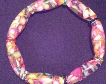 Stretchy Beaded Bracelet.