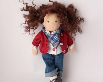 Waldorf doll Sasha - 10'' , Waldorf inspired doll by Handmade by Enna