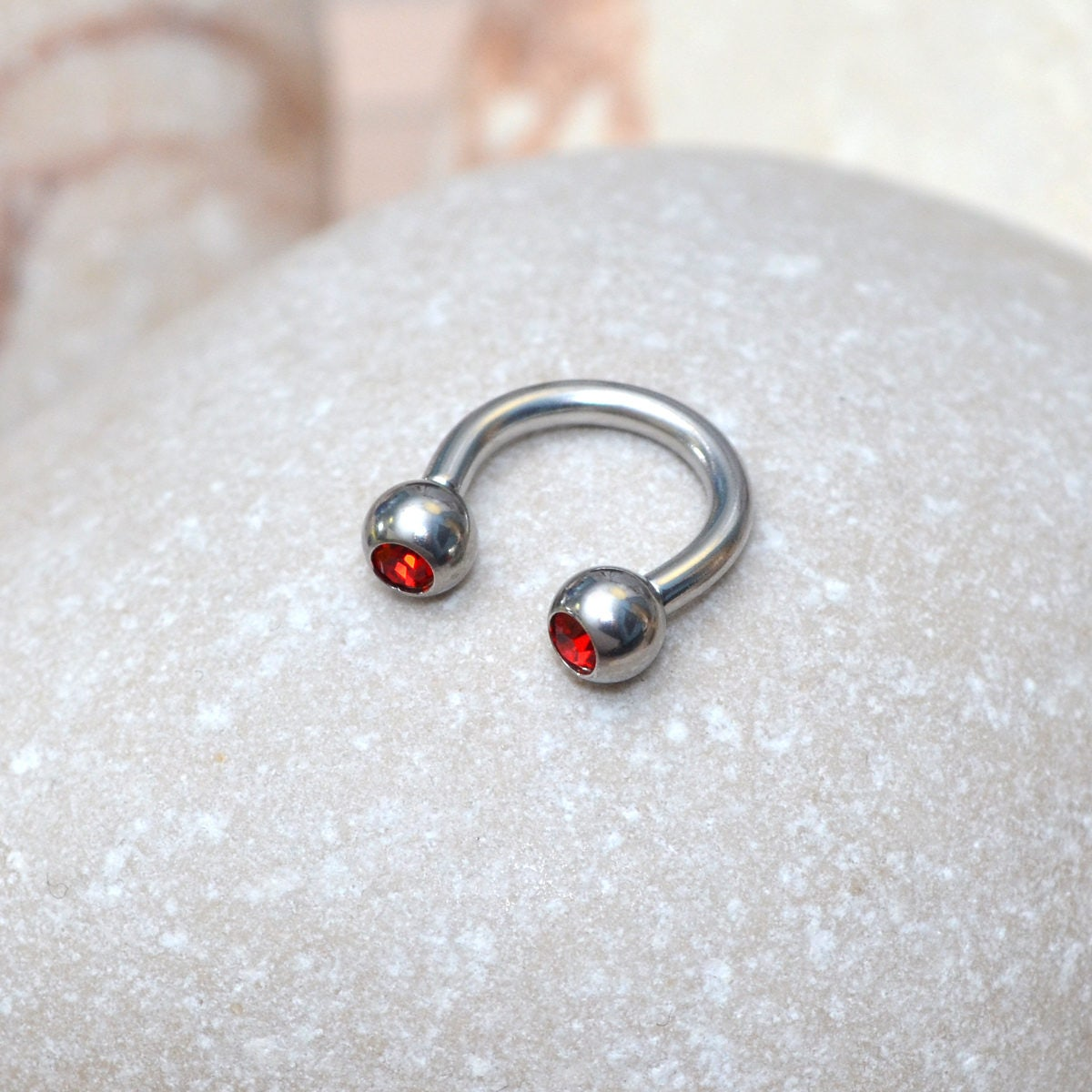 surgical steel septum ring conch piercing septum