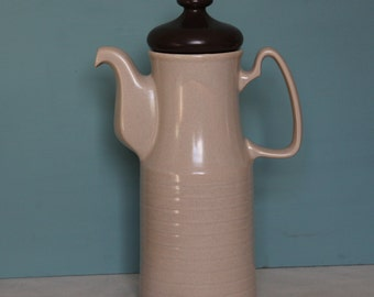 Retro Price Kensington Coffee Pot ~ Made in England P&K Teapot ~ Vintage Stoneware Coffee Pot