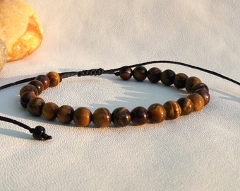 Tiger eye Bracelet mens gift|for|him Gift Mens bracelet Men Healing Bracelet Men Bead Bracelet unisex bracelets Men Good Luck Jewelry