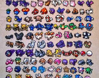 pokemon magnets kanto region perler magnets #1 - #151