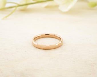 Rose Gold Plated Stainless Steel 3mm Comfort Fit Band - Stainless Steel Ring Blank - Stainless Blank Ring - Pack of 10