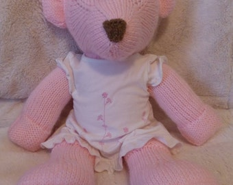 Knitted Teddy Bear- Pink