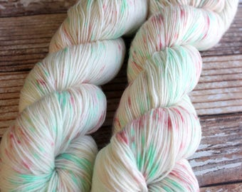 Isabel - Christmas Speckles - Hand Dyed Yarn - 75/25 Superwash Merino/Nylon