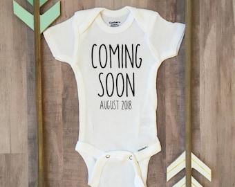 Pregnancy Announcement Onesie, Pregnancy Announcement, Coming Soon, Personalized Pregnancy Announcement, Pregnancy Announcement Shirt