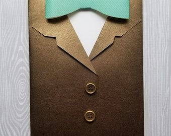 Suit & Bow Tie Greeting Card