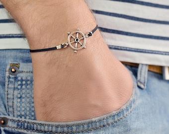 Mens Bracelet - Mens Nautical Bracelet - Minimalist Bracelet - Mens Cord Bracelet - Men's Vegan Bracelet - Mens Jewelry - Mens Gift - Sailor