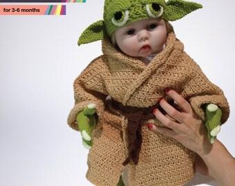 Star Wars Baby Yoda Costume Crochet PDF Pattern, Prop, Baby Crochet Pattern, Yoda Baby Costume, Infant Yoda Costume Crochet PDF Pattern