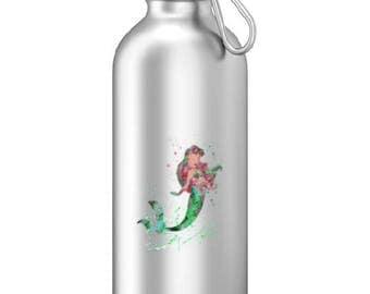 Ariel Coffee Sports Water Bottle - Disney Inspired, Aluminum Water Bottle, Cute Water Bottles,