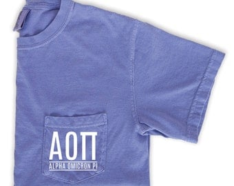 Alpha Omicron Pi T-Shirt, Alpha Omicron Pi Gift, Sorority Comfort Colors Shirt, Big Little Sorority Shirt, AOII Sorority, AOPi Sorority