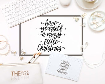Have yourself a merry little Christmas svg cutting file Cricut design Christmas cuttable SVG Silhouette Cameo files DXF design Digital sign
