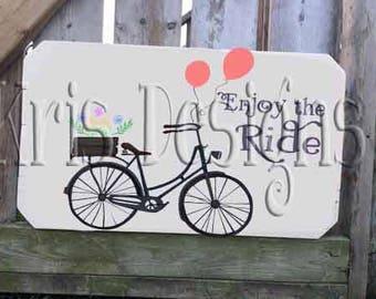 Enjoy the Ride - Bicycle SVG PNG JPG