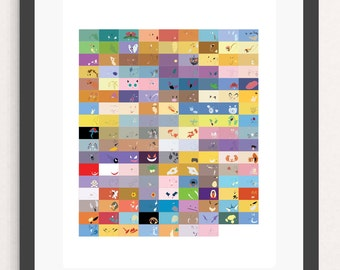 pokemon poster pokemon print pokemon art nintendo fan minimalist art video