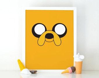 Jake adventure time, Jake the dog, Art print, Printable art, Instant Download, Adventure time art, Cartoon printable, nursery wall art print
