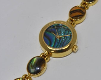 Watch metal and abalone, watch very rare