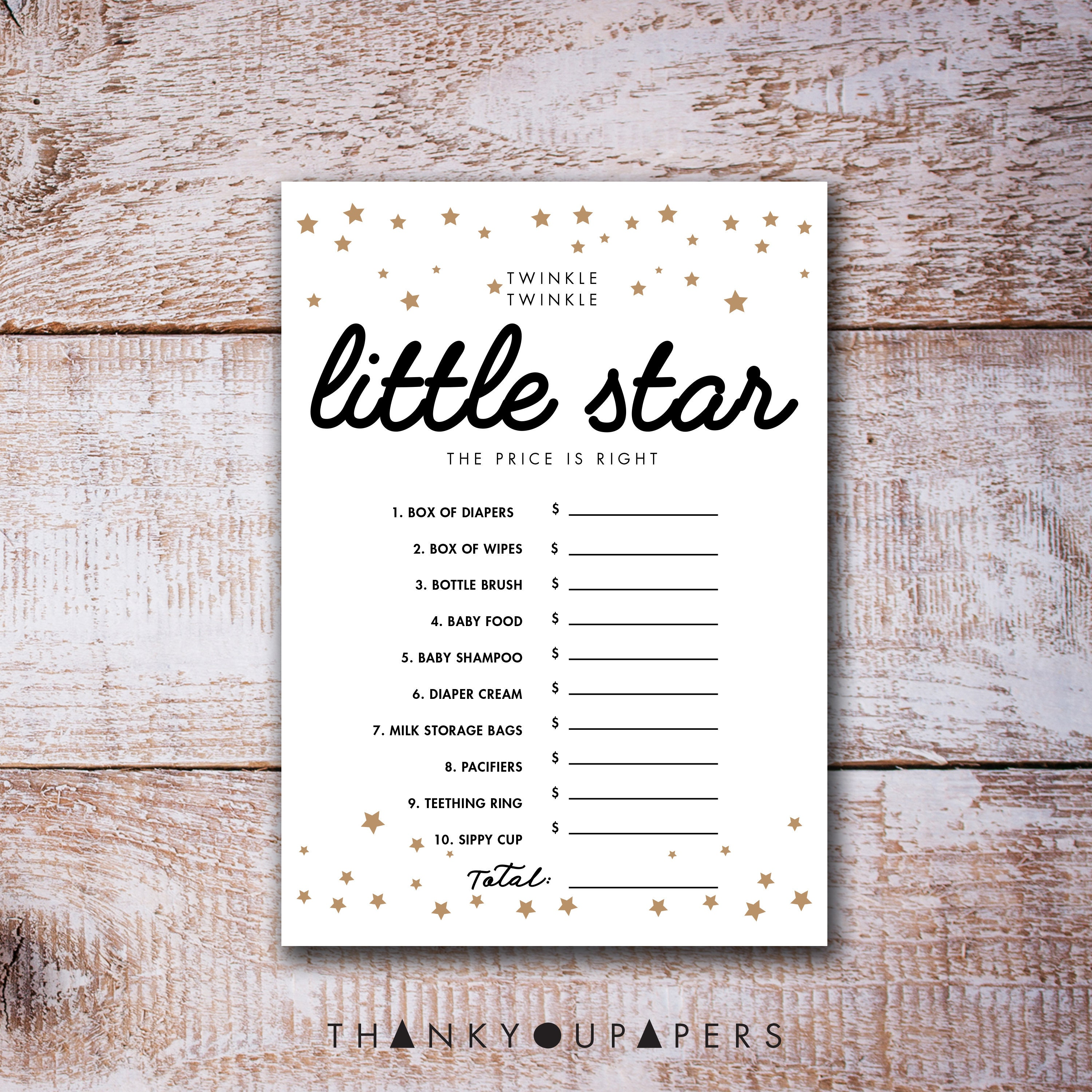 Twinkle Twinkle Little Star Baby Shower Games the price is