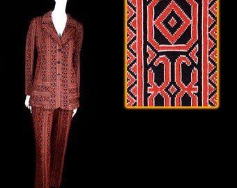 1970's ACT III Geometric Women's Suit Size 12