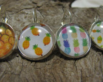 "16 mm cabochon ""sleeper"" pineapple, pineapple, earring, earring"