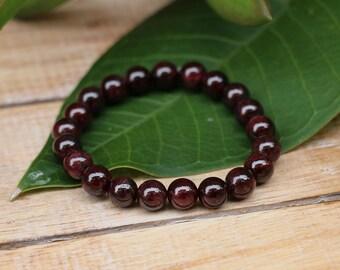 No. 36 Garnet Beaded Bracelet