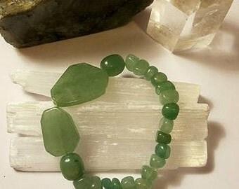 Green Aventurine Crystal Stretch Bracelet medium