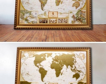World map gift etsy gold deluxe scratch off map places ive been world travel map great gumiabroncs Gallery