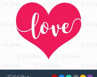 Valentines Day SVG, Love Heart Svg, Svg Files for Silhouette Cameo or Cricut Commercial & Personal Use.