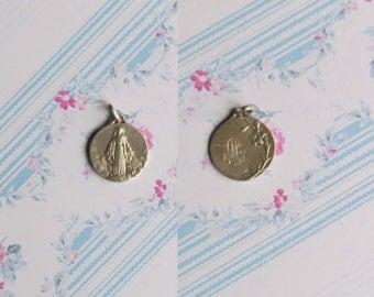 Antique pendant, Jesus Christ in the Heavens, Silver