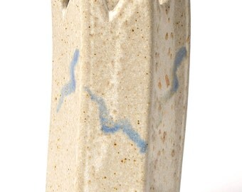 Hoggatt Sanibel Pottery Vase // Vintage Ceramic Vase // Handmade Ceramic Budvase // Studio  Pottery