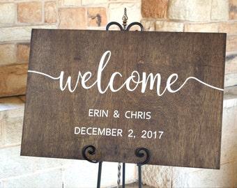 Wedding Welcome Sign,  Wedding Welcome Sign Wood , Wedding Decor, Wedding Welcome, Rustic Wedding Decor, Custom Wedding Sign, Wood Signs