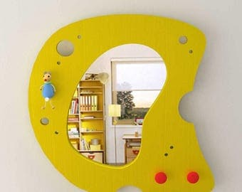 Mirror for Kid's Bedoom - Cheese Model