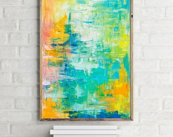 "Aspire; Large abstract original oil painting 36 x 24"" on canvas"