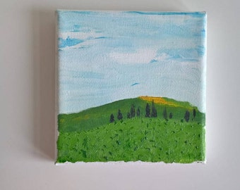 Original oil painting, landscape painting, mini canvas