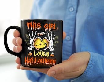 halloween mug halloween gift mug for halloween gift for halloween this girl - Halloween Rugs