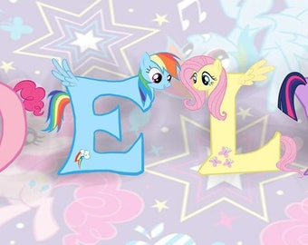 My Little Pony Customized Name Sign Kids Room Decor Child Gift