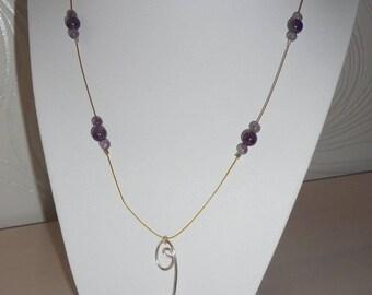 Medium Amethyst Bead Necklace