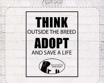 THINK Outside the Breed...ADOPT T-Shirt
