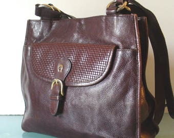 Vintage Etienne Aigner Tall Oxblood Shoulderbag