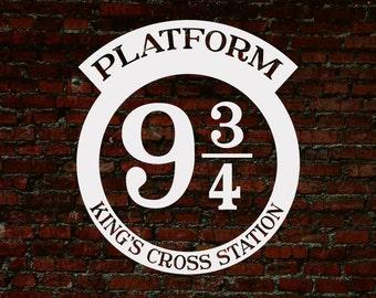 Platform 9 3/4, Platform 9 3/4 Sign, Harry Potter SVG, Harry Potter Print, Cuttable, Vinyl, Sticker, Digital File, DXF, Print, Cut File