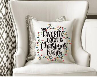 My Favorite Color is Christmas Lights, Christmas Lights, Christmas Svg,Dxf,Png,Jpeg