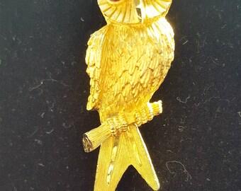 Vintage BSK Owl Pin