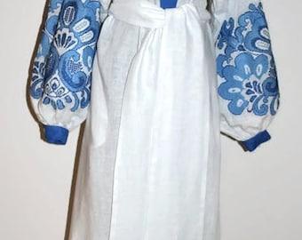 Kaftan Dubai Abaya Dresses Vyshyvanka Ukrainian Dress Bohemian Clothes Boho Clothing Mexican Embroidery Embroidered Cloth Ethnic Vishivanka