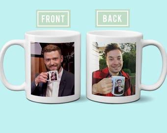 Justin Timberlake and Jimmy Fallon Coffee Mug Ew Mug Late Night Show Inception Coffee Mug Mrs Justin Timberlake Design 100