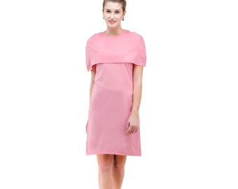 Pink dress with warm shoulders