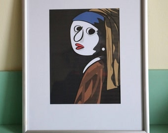 Print Girl with Pearl Earring