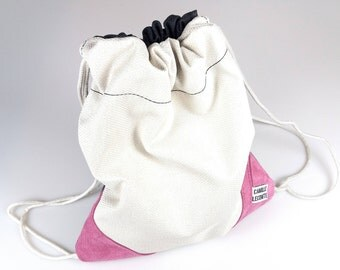 """""""VANILA"""" handmade backpack made from recycled materials"""