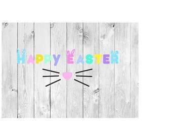 Easter SVG, Happy Easter SVG, Easter Bunny, Cut file